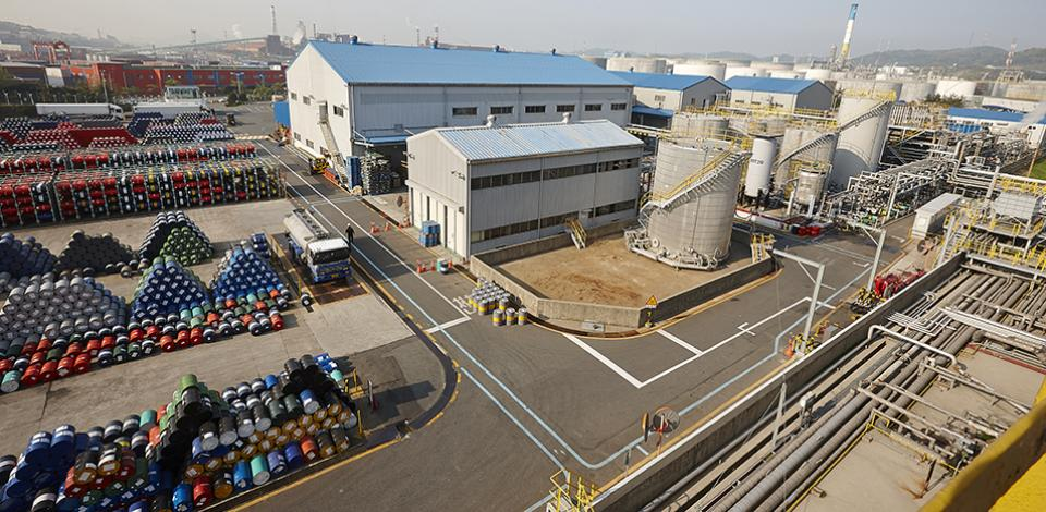 The S-Oil Total Lubricants (STLC) Onsan plant.